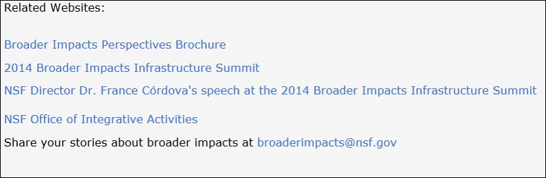 NSF Broader Impacts (2/6)