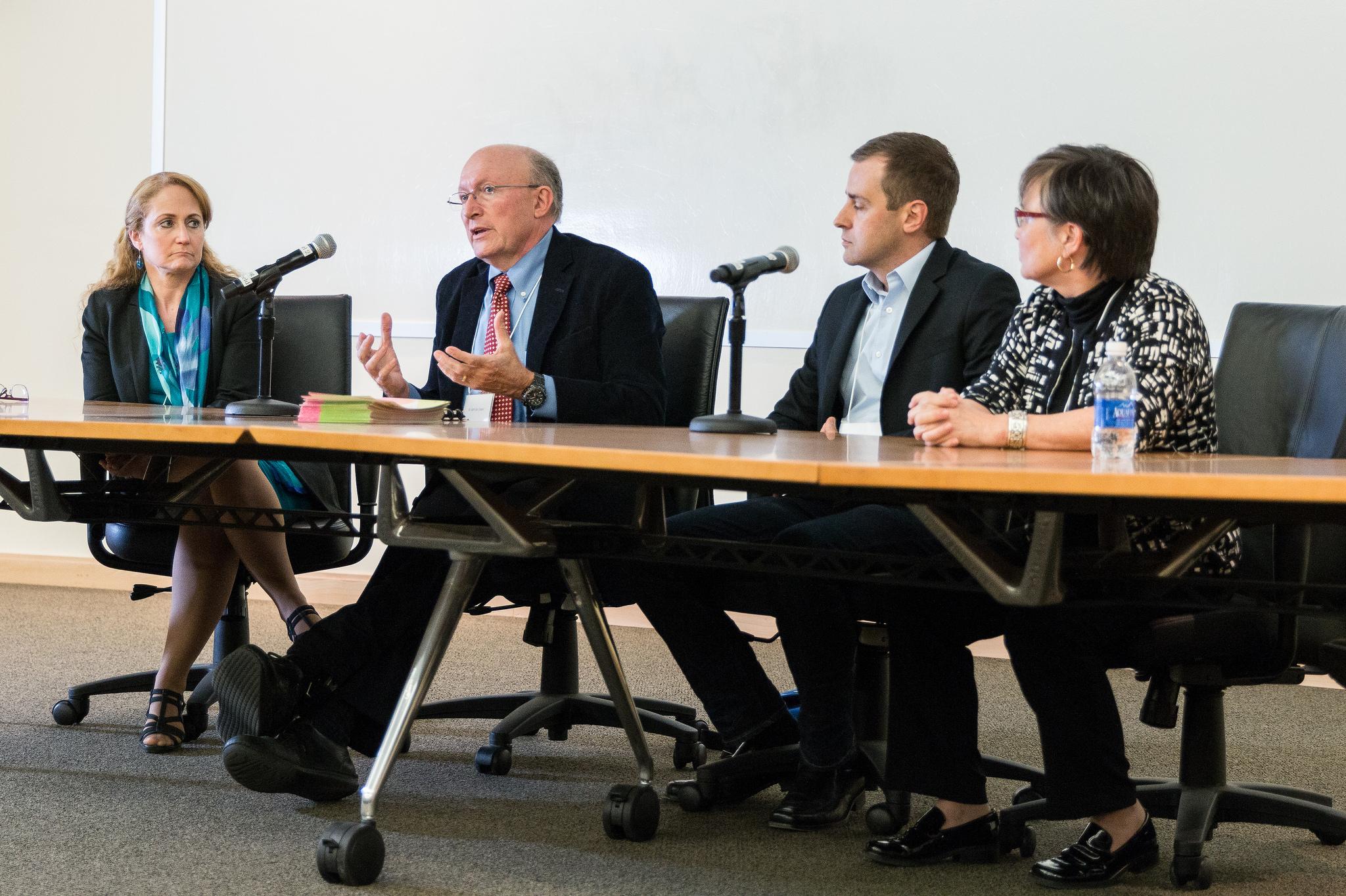 Photo of four panelists