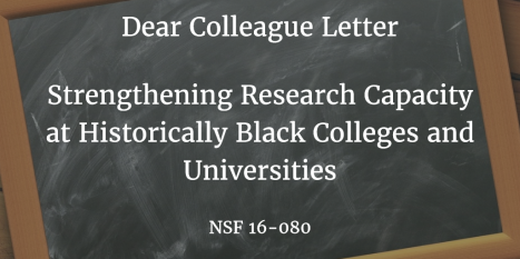 Image of blackboard with title of Dear Colleague Letter