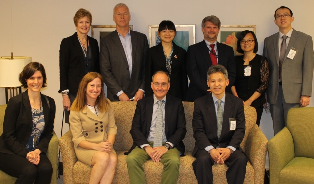 Photo of delegation with staff and management of the NSF.