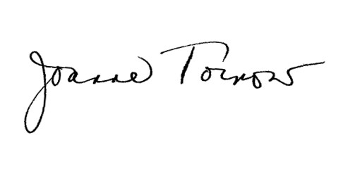 Image of the signature of Dr. Joanne Tornow, Assistant Director for Biological Sciences